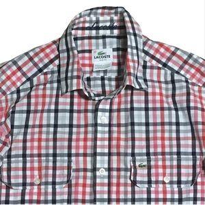 Lacoste Checkered Design Button Down Size 40 (M)